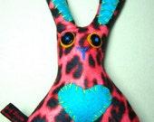 mini pink leopard bunny