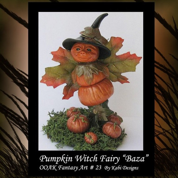 Pumpkin Witch Fairy OGLD MHA Fantasy Art Miniature