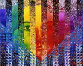 Mixed Media: Conundrum I - Rainbow Woman - 8x10 Fine Art Print