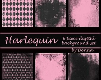 Harlequin Digital Background Set