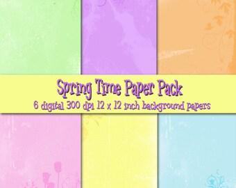 Springtime Digital Background Set