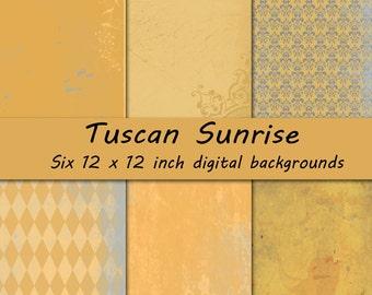 Tuscan Sunrise Digital Background Set