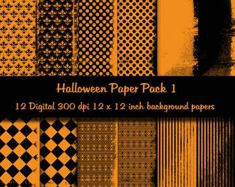 Halloween Paper Pack 1 - Digital Paper Set
