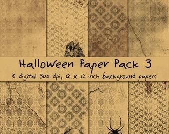 Halloween Paper Pack 3 - Digital Paper Set