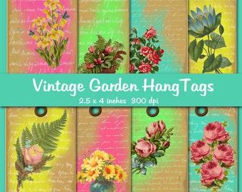 Vintage Garden Digital Hang Tags
