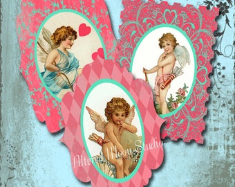 Cupid Valentine Collage Sheet 9