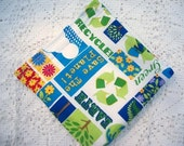 ItsAWrap reusable sandwich or snack bag Save the Planet in blue