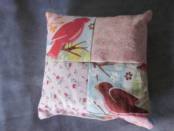 Buckwheat Hull Large Pincushion / Two Birds