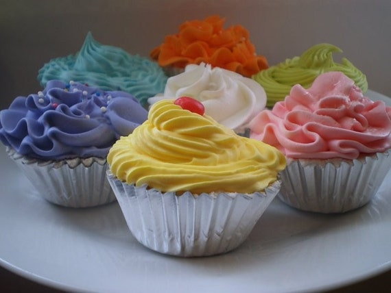 Variety 6 pack of cupcake bath fizzies
