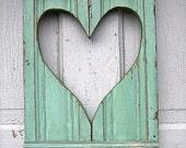 Mint Green Heart Shutter