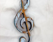 G Clef Made From Recycled Wood