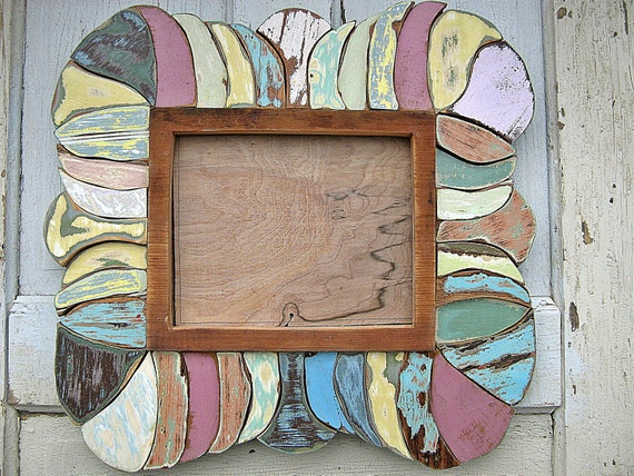 Reclaimed Wood Art Mosaic 8x10 Picture Frame