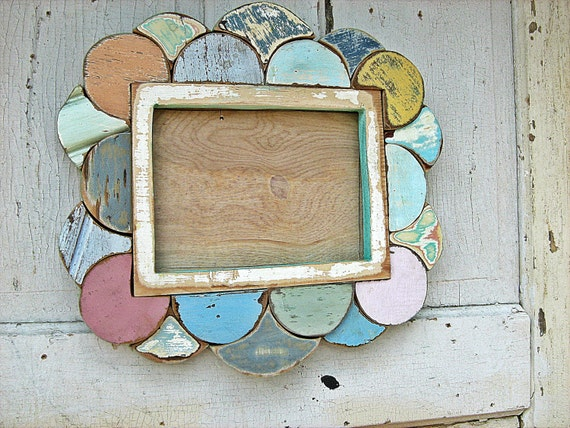 Wood Mosaic Picture Frame 6x8