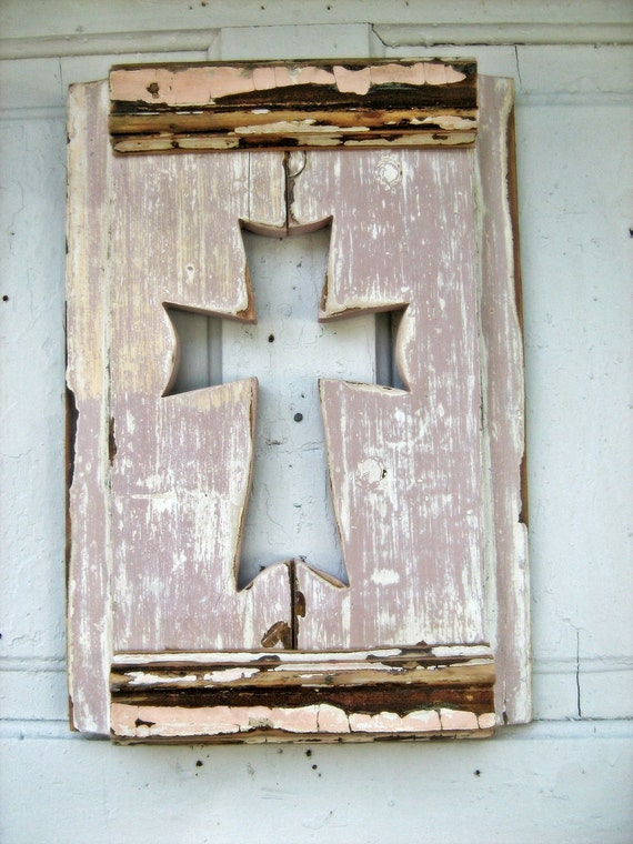 Salvaged Wood Lavender Wall Cross