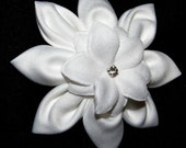 RESERVED FOR ZIKE- Bridal Bloom- White Hair Flower for Wedding or Special Occasion