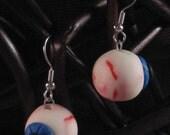 Blood Shot Glow in the Dark Eyeball Earrings