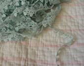Light blue lace edging scalloped trim ribbon
