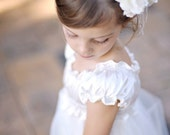 Flower Girl Dress .  Walk in the Clouds