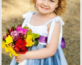 Custom Dresses . Flower Girl Dress