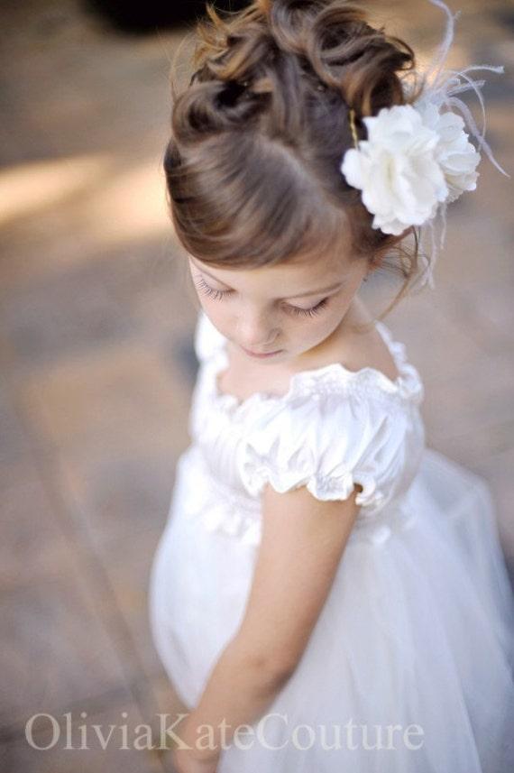 Flower Girl Dress .  Walk in the Clouds