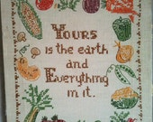 Vintage Veggie Cross Stitch For Your Cozy Kitchen Yours is the Earth and Everything in it
