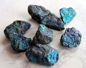 Peacock Ore Rocks -Chalcopyrite (8X) (NS710)