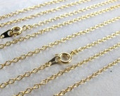 LAST Set - Gold Plated Cable Chain Necklaces (4X) (C637)