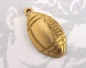 Brass Football Charms (8X) (M789)