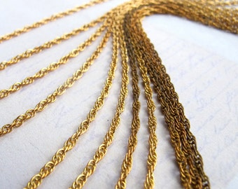 Vintage Brass Rope Chain - soldered (10 Feet) (CP201)