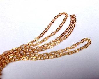 Brass Peanut Chain (12 Feet) (C805-A)