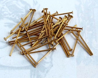 Brass Head Pins (100X) (F515)