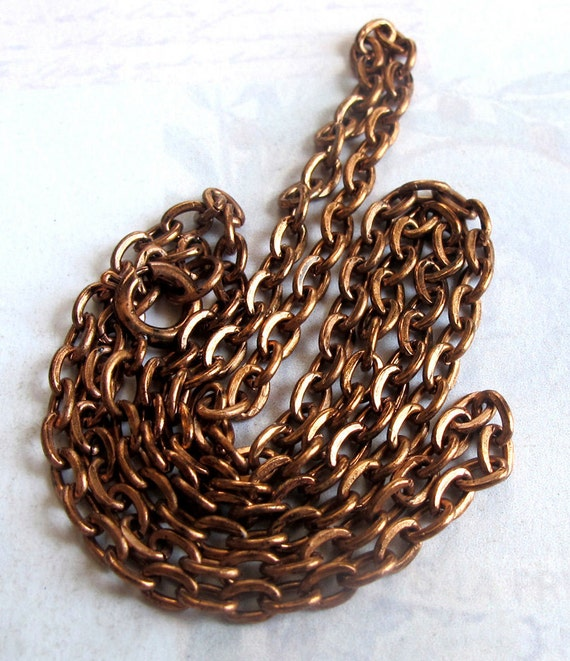 LAST Set - Copper Plated Flat Cable Chain Necklaces (4X) (C631)