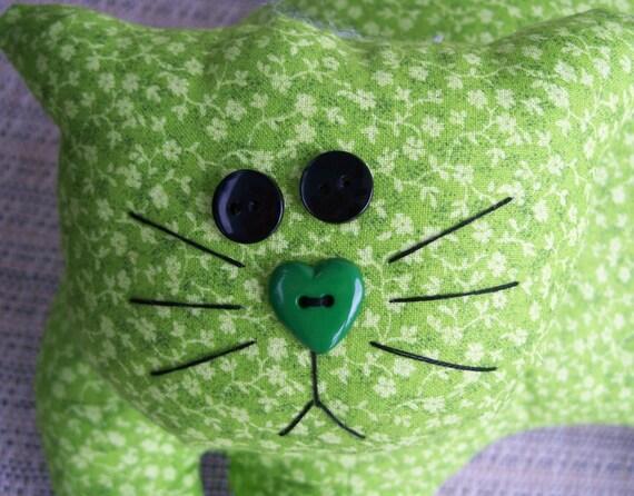 Calico Kitty - Green