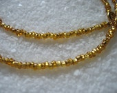 Gold Glass Seed Bead Necklace