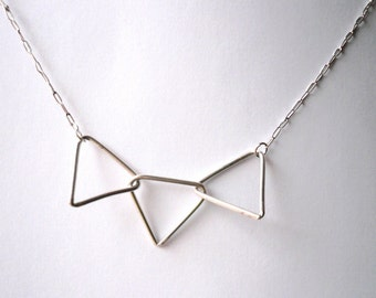 3 triangle necklace