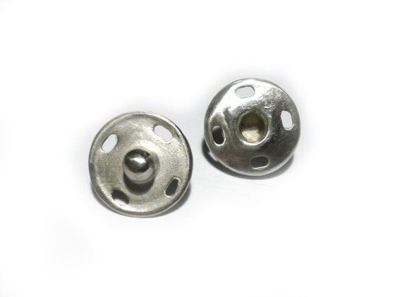 snap button earrings
