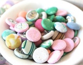 Vintage Fabric Covered Buttons - Package of 12