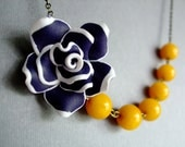 Nautical Necklace,Flower Jewelry,Bridesmaid Necklace,Wedding Jewelry (Free matching earrings)