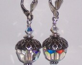 Acorn Earrings on Sterling Silver Lever backs with Swarovski Crystals