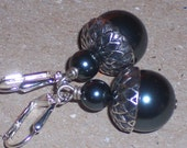 Montana Blue Swarovski Pearl Acorn Earrings on Silver Lever backs FREE SHIPPING to the USA