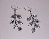 Simple Filigree Leaf Earrings on Sterling Silver Ear Wires  // Nature Jewelry //  Leaf Earrings // Olive Branch