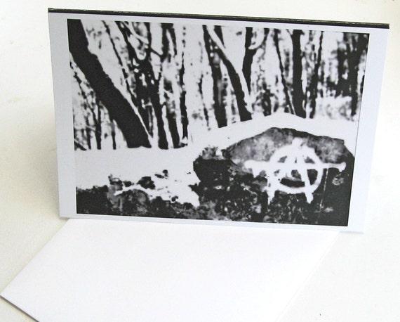 Anarchy Rock--blank greeting card