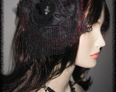 Scarlet Kiss Fascinator
