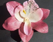 Metalic Pink Orchid Hair Clip