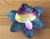 Black Orchid Flower Hair Clip
