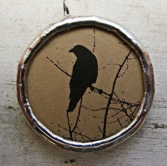 Crow Silhouette Necklace