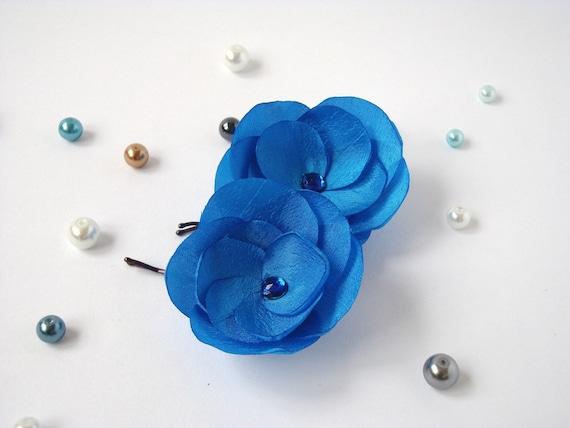Ocean Blue Hair Pins or Shoe Clips