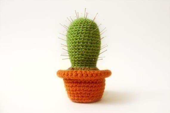 Crochet Cactus Pincushion Free Pattern : Cactus Pincushion Crochet Pattern