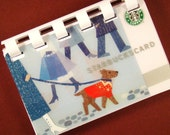 Starbucks (Winter Dog Walking 2009) Giftcard Notebook  --  No value on card
