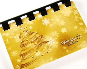 Golden Holiday Tree Giftcard Notebook  ---  No Value on Card